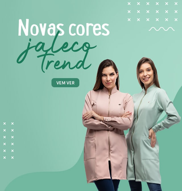 Novas Cores Jaleco Trend