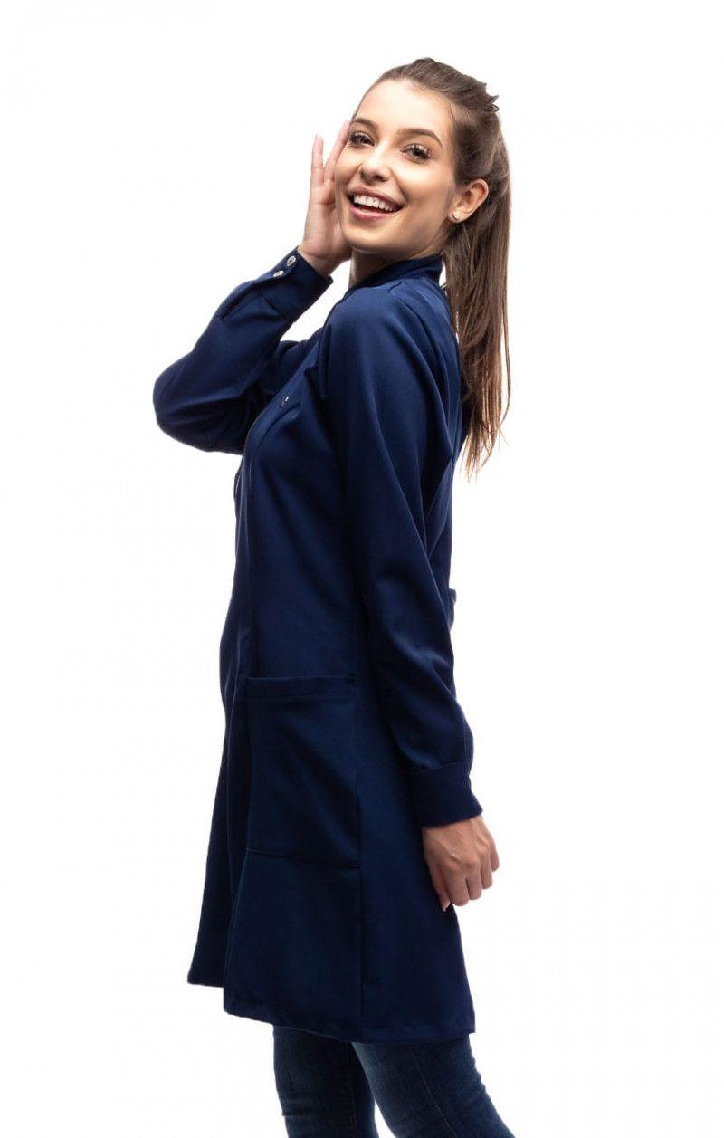 Jaleco Feminino Trend Azul Marinho