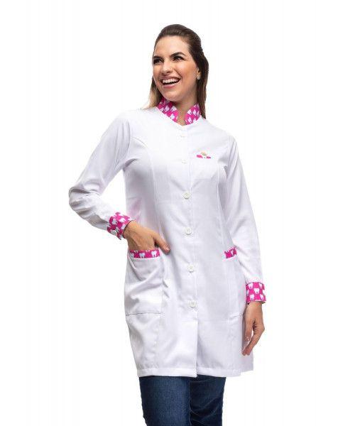 Jaleco Feminino Essencial Dente Pink