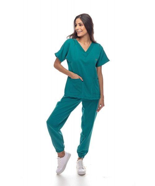 Pijama Cirúrgico Confort Verde Ultramarine