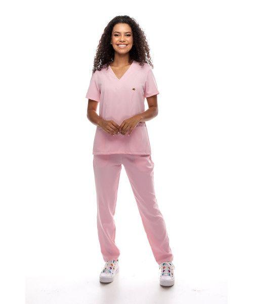 Pijama Cirúrgico Active Rosa